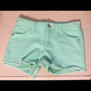 Teal girls large shorts brand new!!!